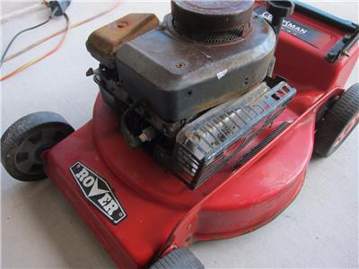 how to start a rover lawn mower