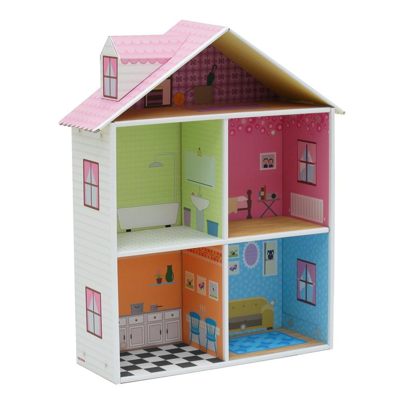 KROOOM-Melrose-Dollhouse-Play-Set-Doll-House-100-Recycled-Materials-From-KRoom