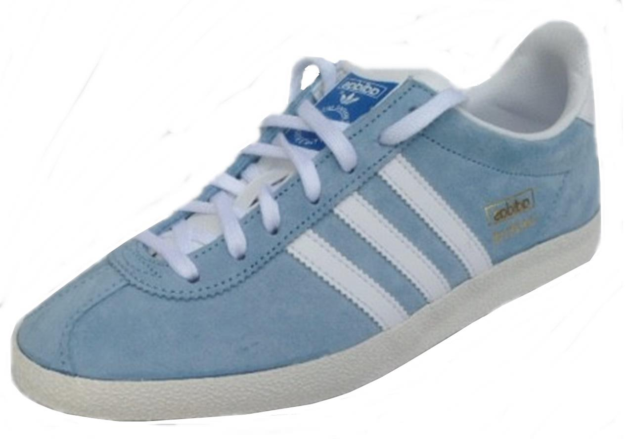 Adidas Gazelle Og Blue White Mens Trainers