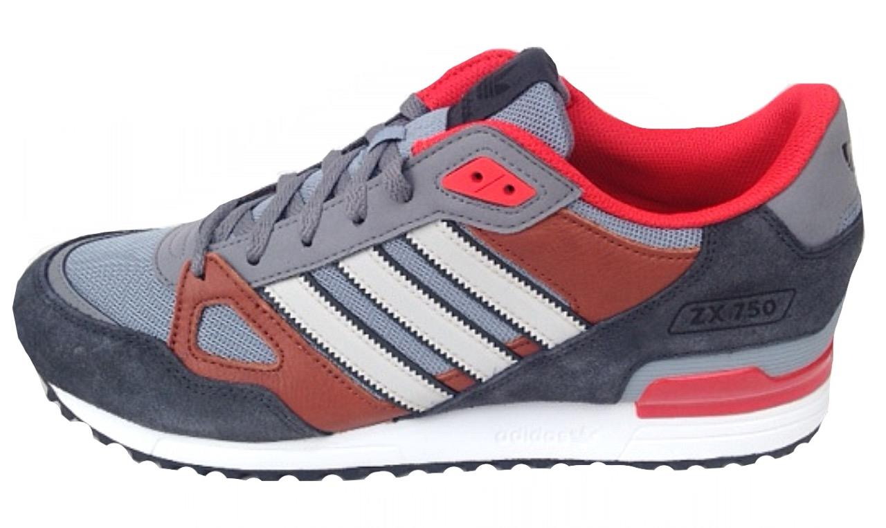 Adidas Mens ZX 750 Trainers G96727 Grey Brown