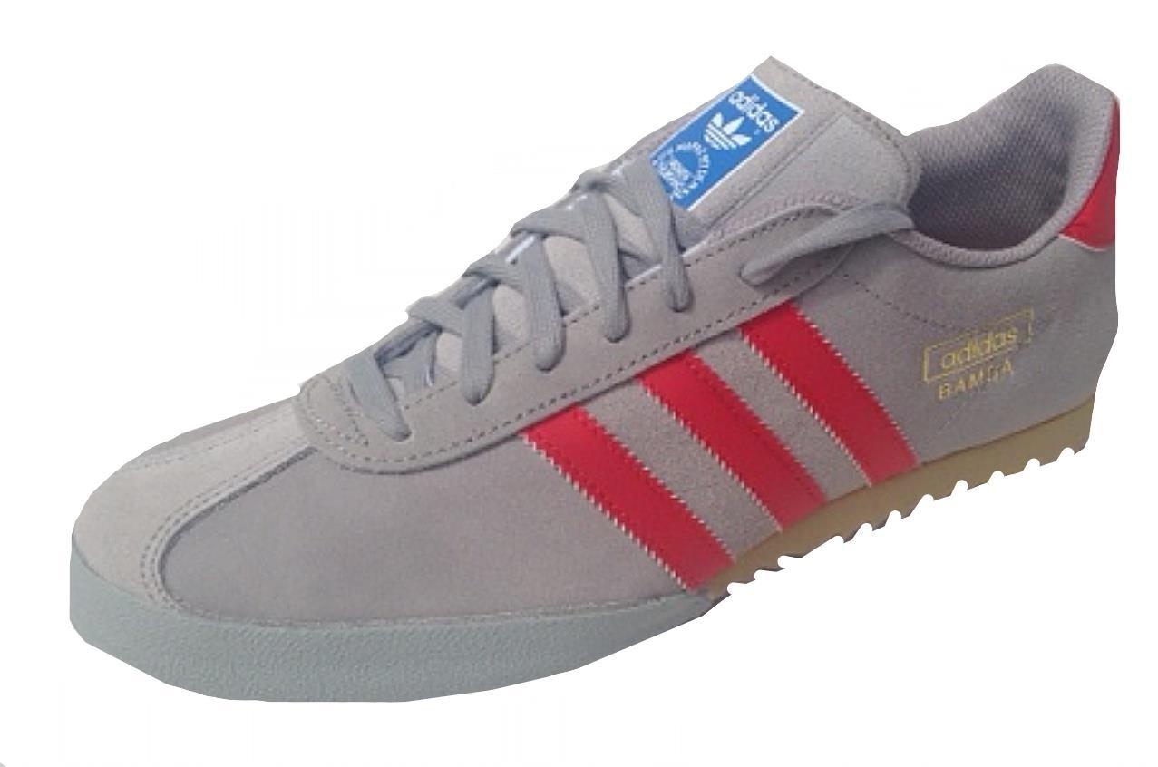 Adidas Originals Mens Bamba D65789 Trainers Aluminium Red