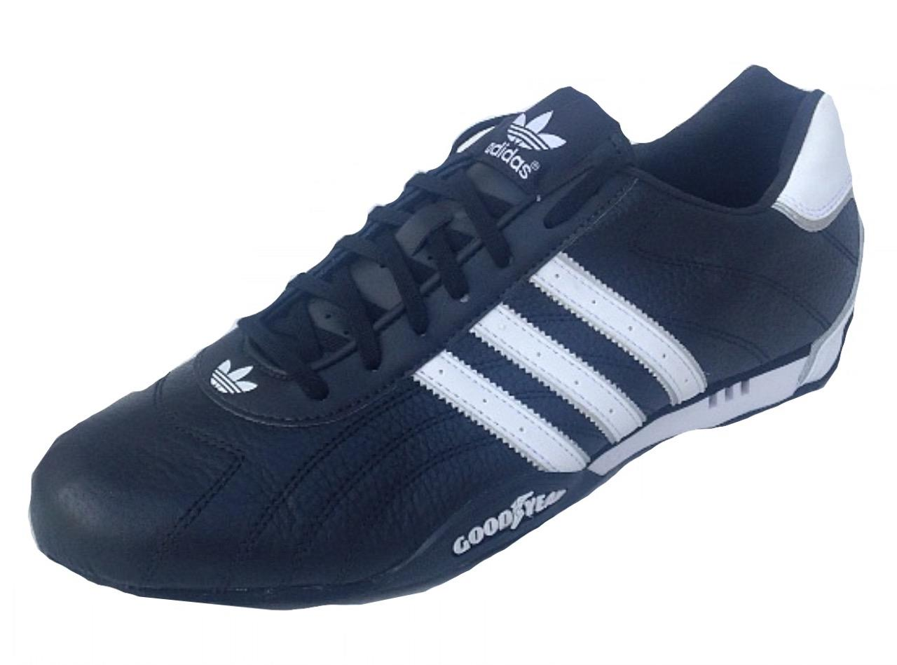 adidas mens adi racer low trainers black white leather. Black Bedroom Furniture Sets. Home Design Ideas