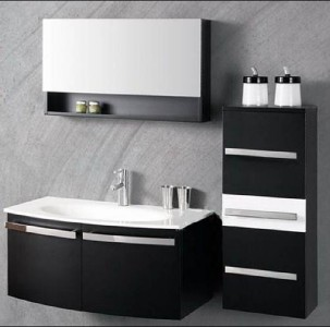 How High Should Vanity Lights Be Hung : Bathroom Furniture Vanity Sink Unit Wall Hang Mirror and Side Cabinet--012N eBay