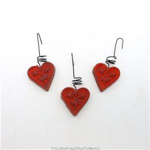... about MINI VALENTINE or CHRISTMAS HEART TREE ORNAMENTS ~ Box of 12