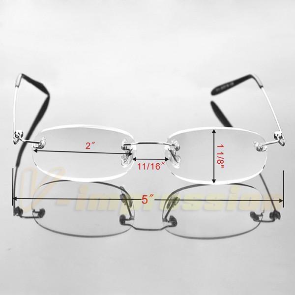 Flexible Lightweight Frameless Rimless Reading Glasses ...