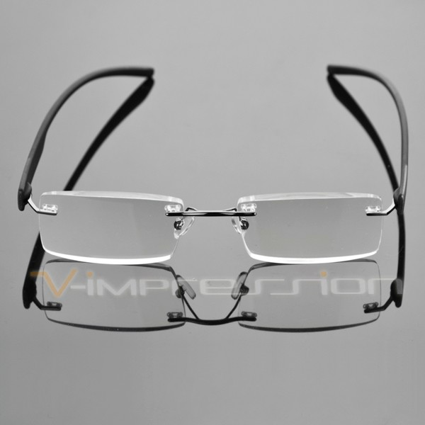 Frameless Rimless Reading Glasses Reader Eyeglasses ...