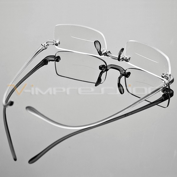 Frameless Smoke Transparent Reading Glasses Reader ...