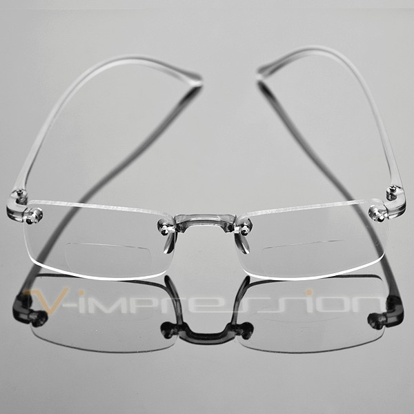 Frameless Eyeglasses Frames : Frameless Smoke Transparent Reading Glasses Reader ...