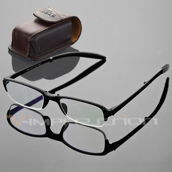 TR90 Reading Glasses Foldable Folding Reader Eyeglasses Men Women Belt Clip Case