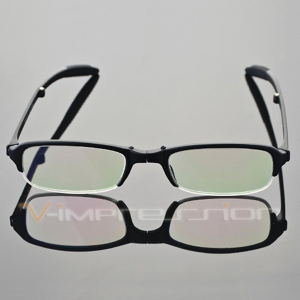 1x TR90 Foldable Folding Black Half Frame Reading Glasses ...