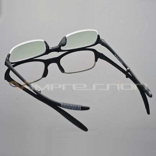 Half Frame Folding Reading Glasses : 1x TR90 Foldable Folding Black Half Frame Reading Glasses ...
