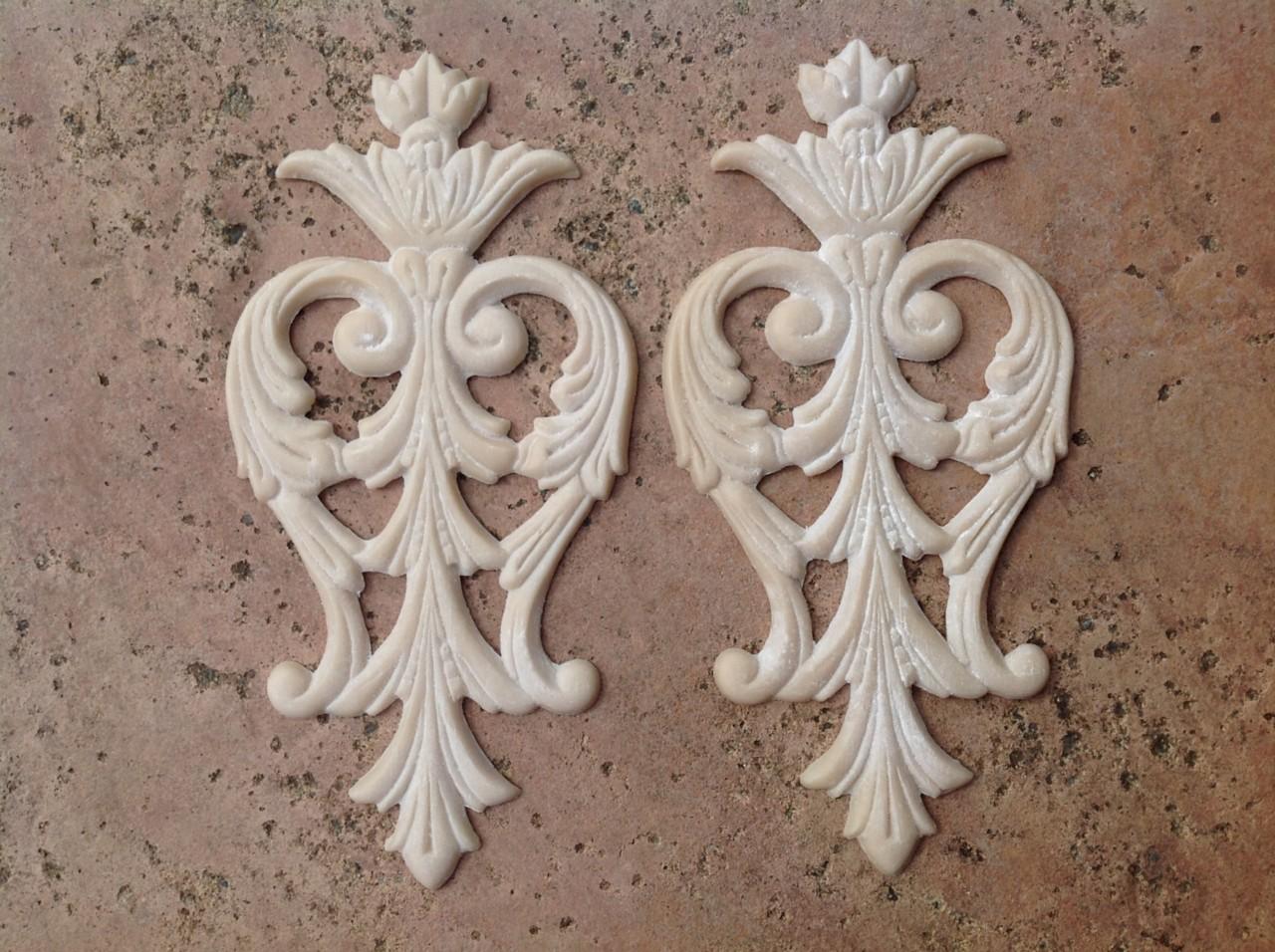 Furniture Crest Applique Mold Decoration Shabby French Provincial Vintage Bundle Ebay