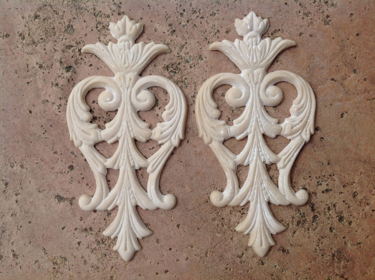 Furniture crest applique mold decoration shabby french for Applique furniture decoration