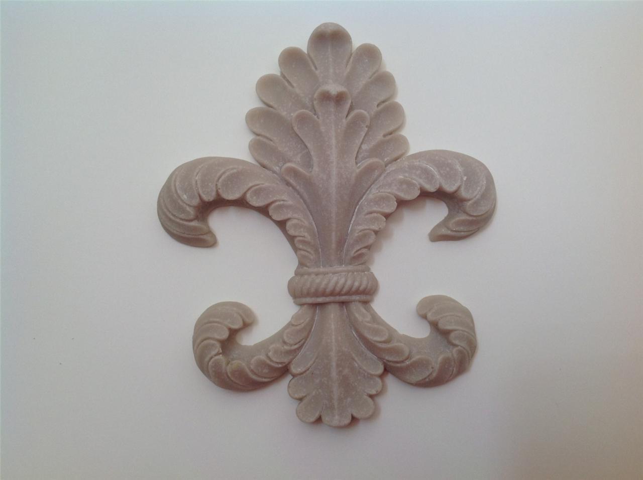 French Provincial Fleur De Lys Furniture Applique Crest A Stylized Lily Flower Ebay