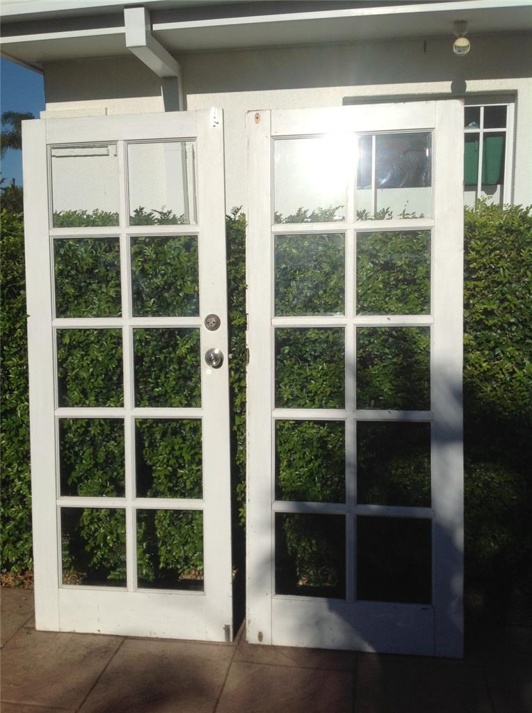 white timber french doors vintage 10 bevelled glass panels