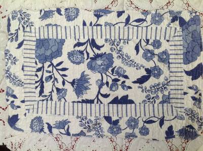 quilt patchwork tagesdecke landhausstil 240 x 260 cm blau. Black Bedroom Furniture Sets. Home Design Ideas