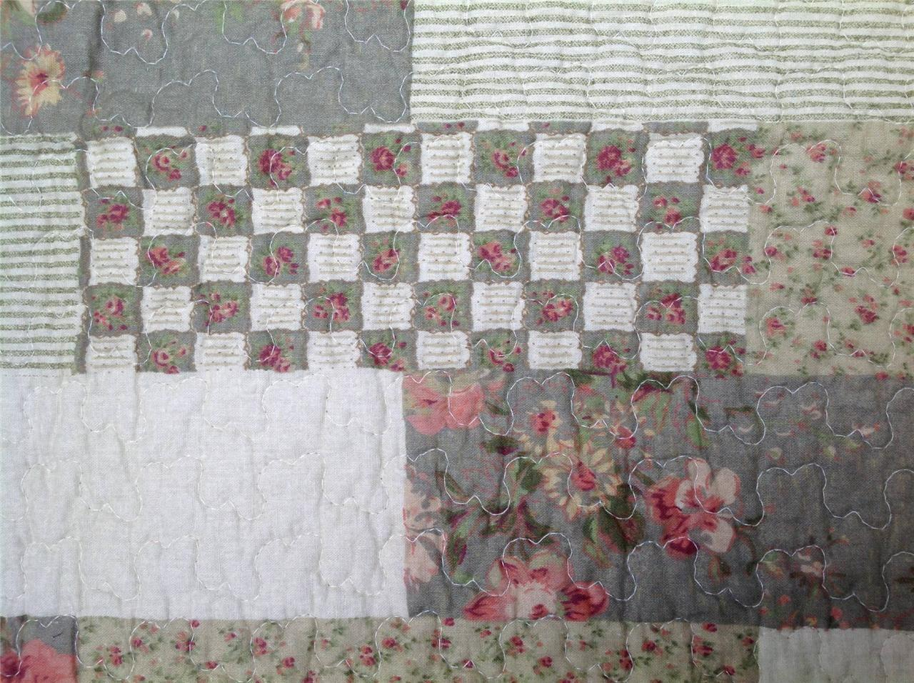 quilt patchwork tagesdecke landhausstil 170 x 230 cm ebay. Black Bedroom Furniture Sets. Home Design Ideas