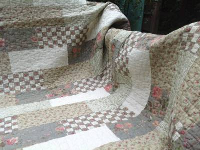 quilt patchwork tagesdecke landhausstil 130 x 200 cm ebay. Black Bedroom Furniture Sets. Home Design Ideas