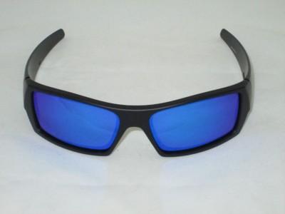 oakley flak jacket black iridium polarized lenses  blue polarized