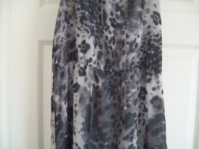Animal Print Dress on Pretty Topshop Grey Leopard Print Side Split Maxi Dress 14   Ebay