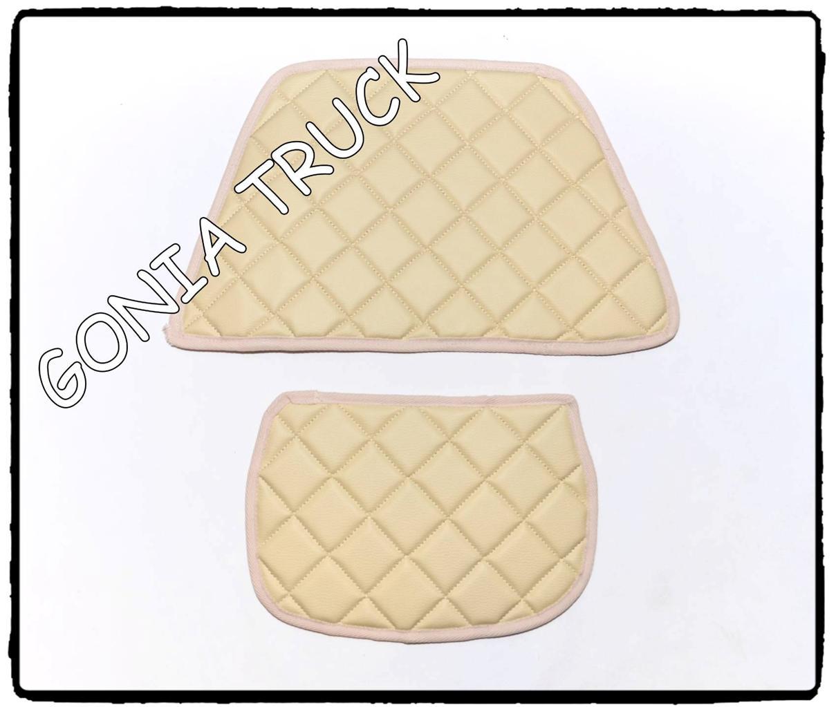 Eco cuir deux petit tapis on the tableau de board pour daf xf en beige couleur for Tapis raye noir beige
