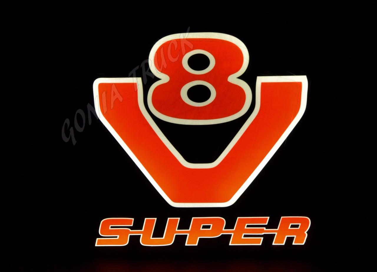 Leds Logo Quot Scania V8 Super Quot Ebay