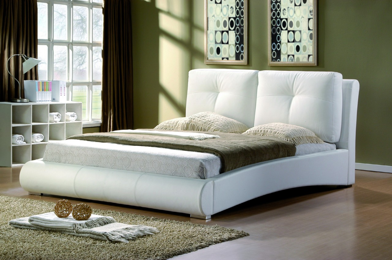 super king white bed frame idea
