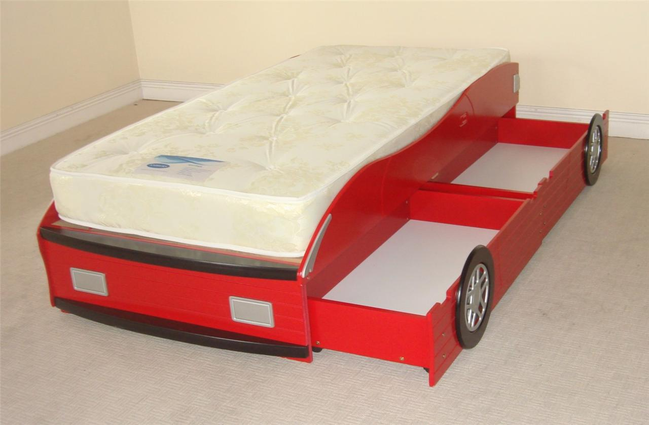 New in red wooden racing car bed frame only with 2 storage for New bed frame