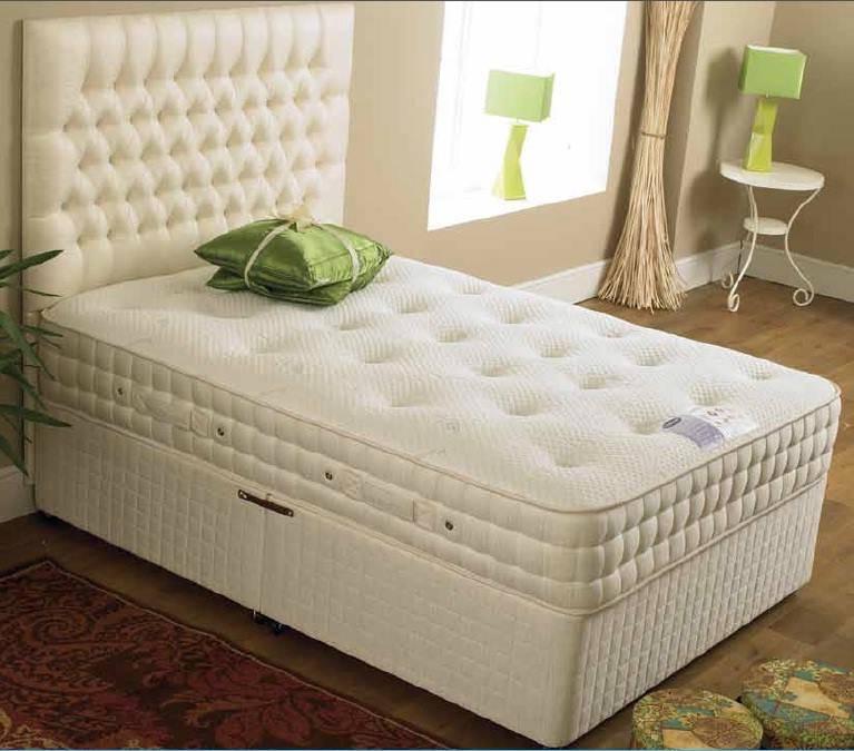 Heavenly comfort top quality 2200 pocket spring mattress for Best quality divan beds