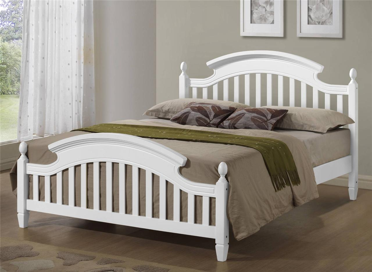 White Double Bed Frame Ebay