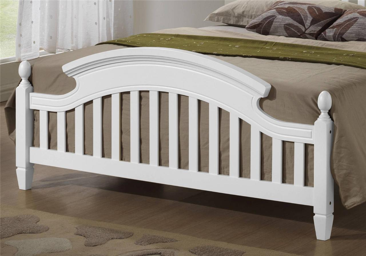 zara white wooden arched headboard bed frame in 3ft single. Black Bedroom Furniture Sets. Home Design Ideas