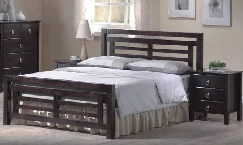colorado oriental style dark wood bed frame 4ft6 double or 5ft kingsize. Black Bedroom Furniture Sets. Home Design Ideas
