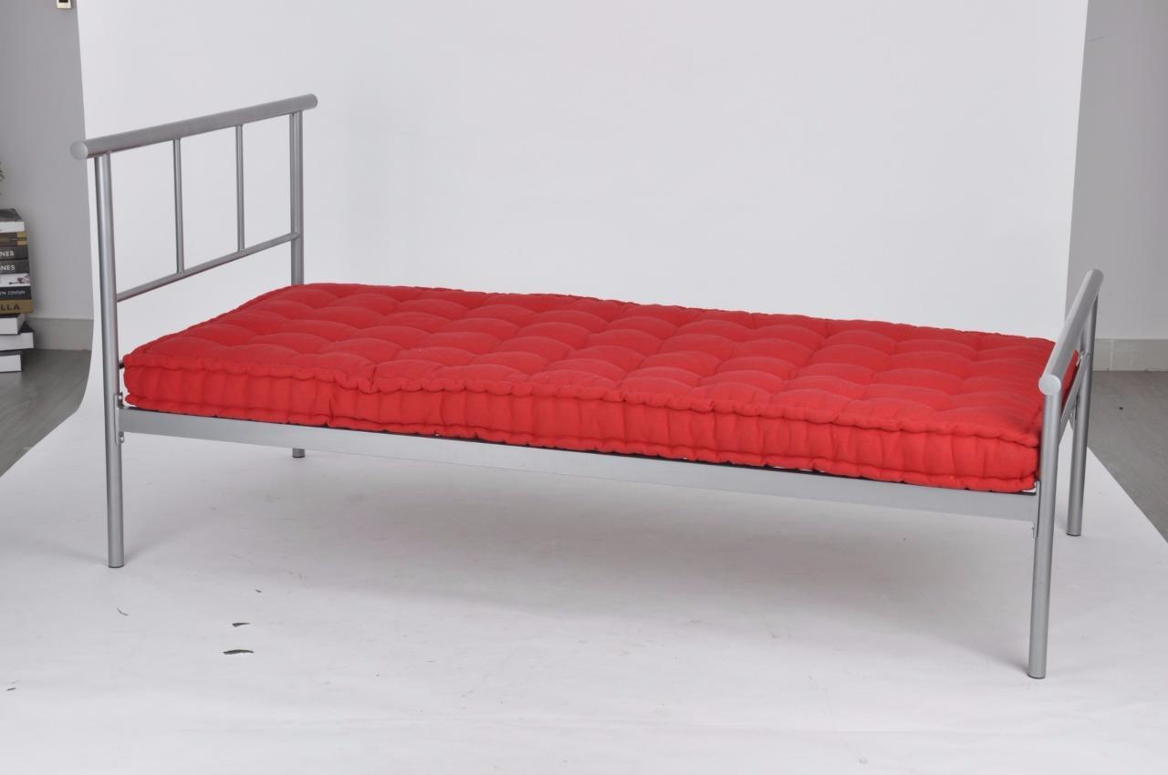 Silver Metal Modern Squares Bed Frame 3ft Single Or 4ft6