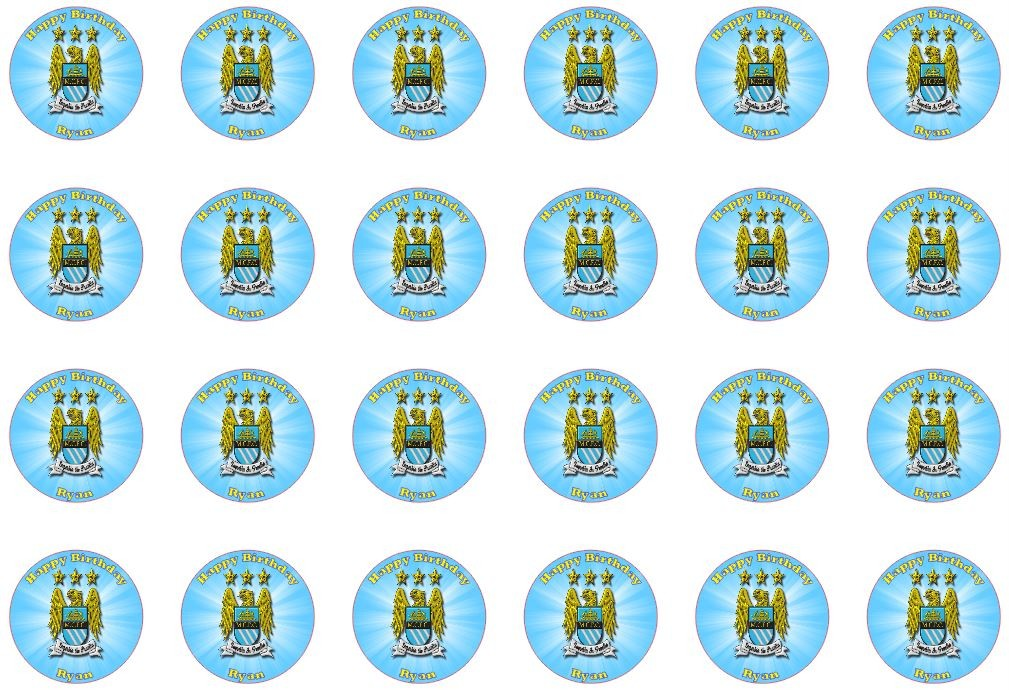 ... EDIBLE MAN CITY x 24 Cupcake FAIRY CAKE Toppers BIRTHDAY PARTY  eBay