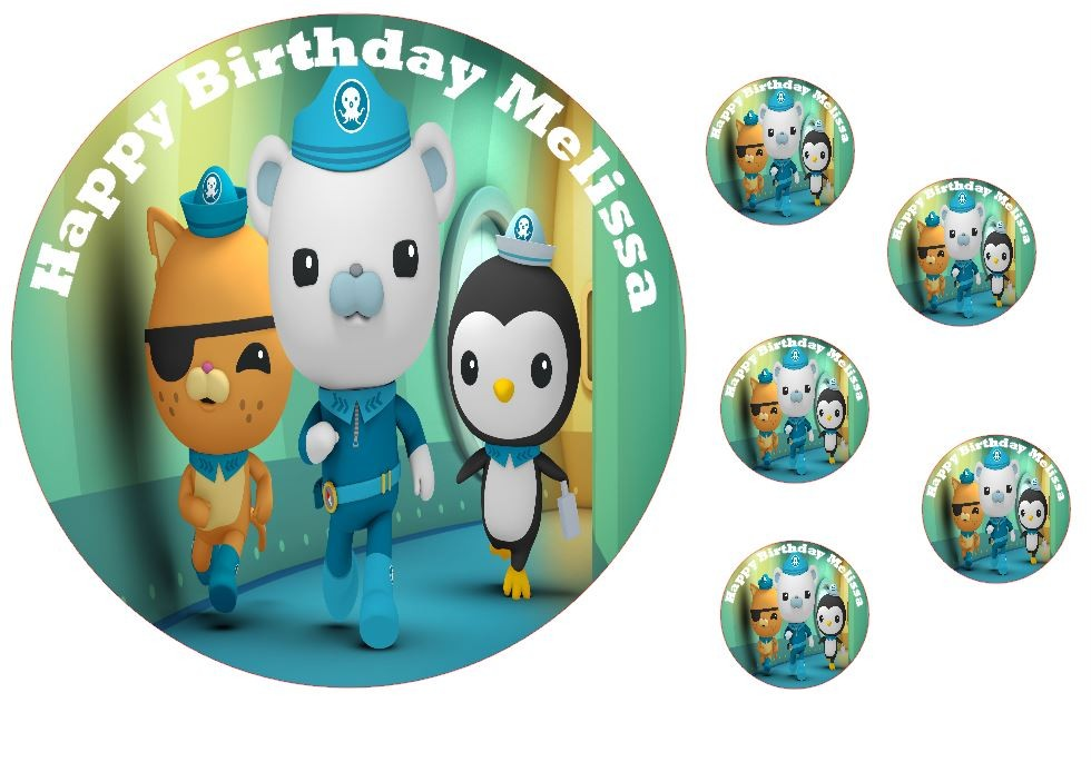 Personalised EDIBLE OCTONAUTS 7.5