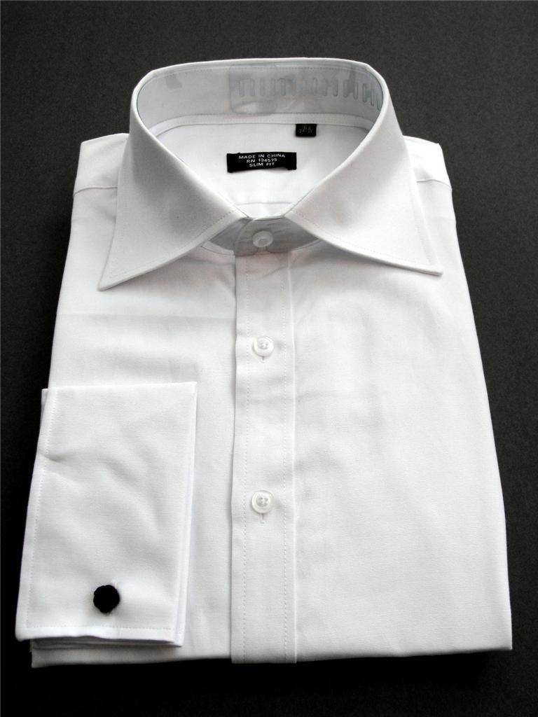 New unworn pinpoint oxford french cuffs slim normal fit White french cuff shirt slim fit