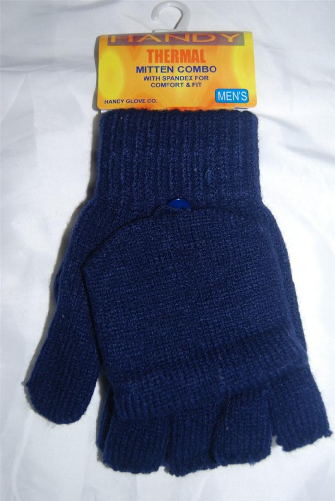 Mens thermal fingerless flapped shooting fishing gloves for Fingerless fishing gloves