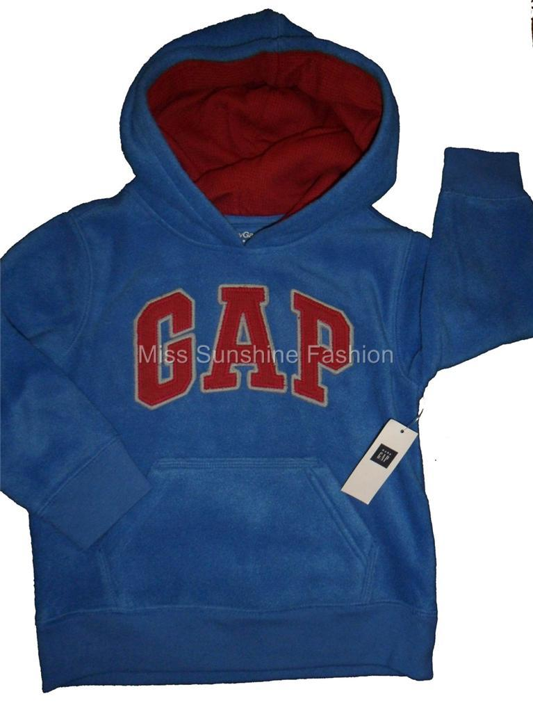 baby gap boys blue and red fleece hoodie hoody sweatshirt various sizes ebay. Black Bedroom Furniture Sets. Home Design Ideas