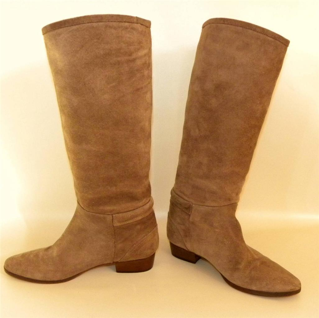 michael kors brown soft suede womens boots size 6m in