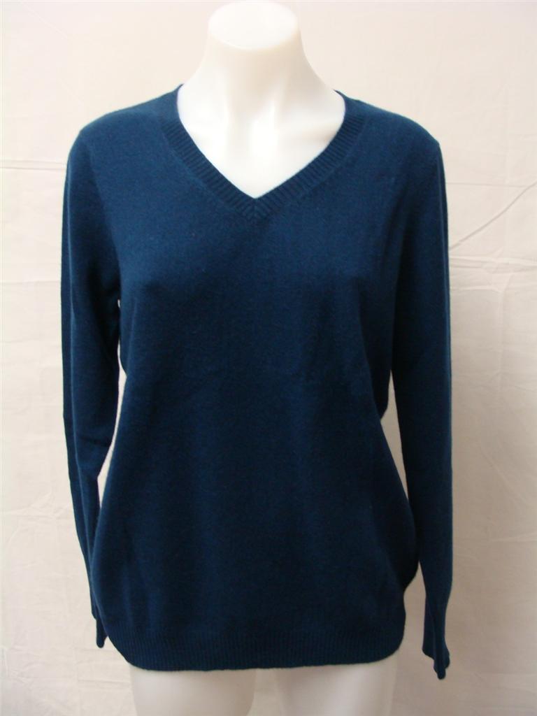 Enzo mantovani women 39 s cashmere v neck sweater assorted for Enzo mantovani