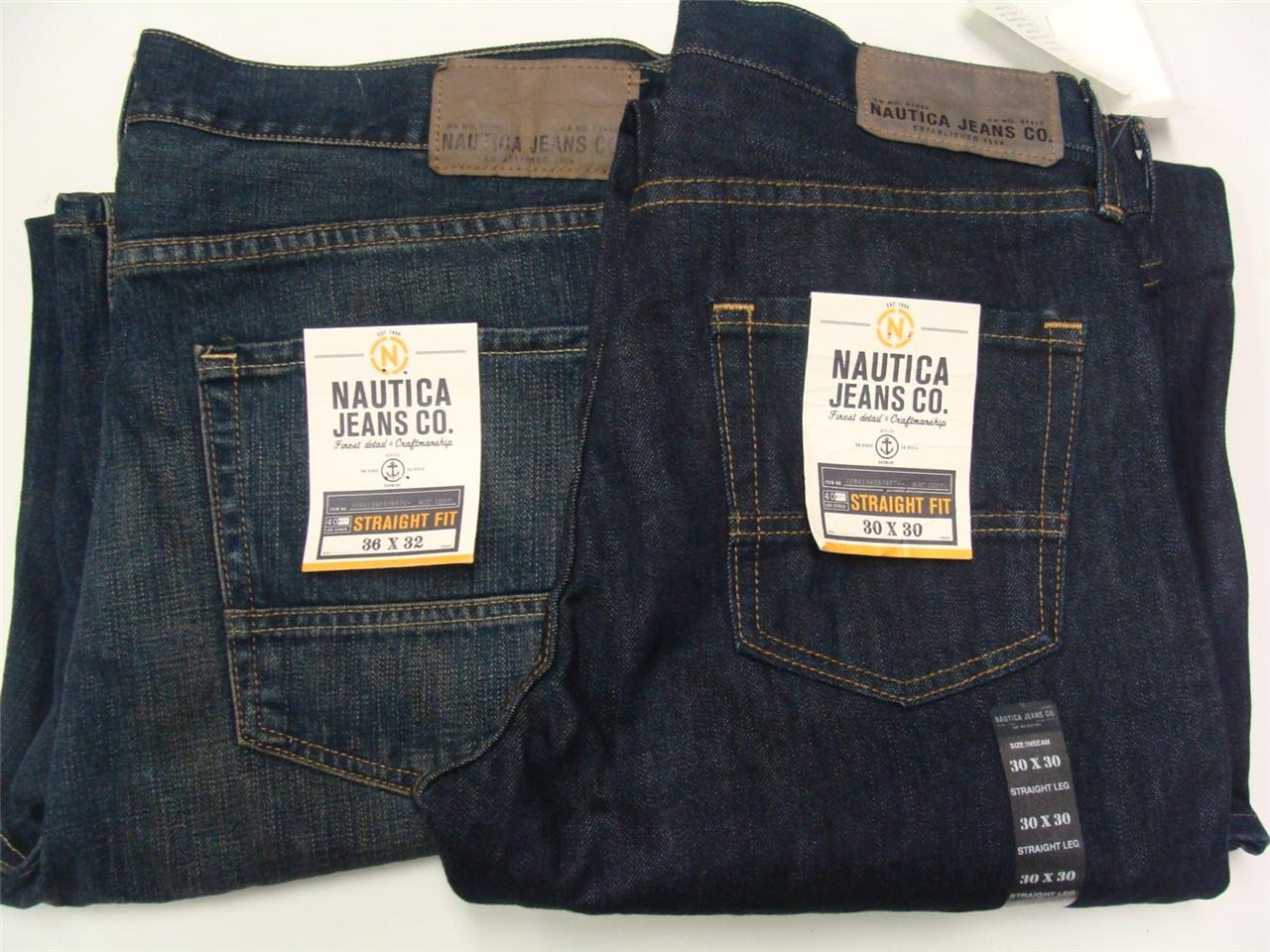 Nautica Jeans Co. Menu0026#39;s Straight Fit Jeans In Assorted Washes u0026 Sizes NWT | eBay