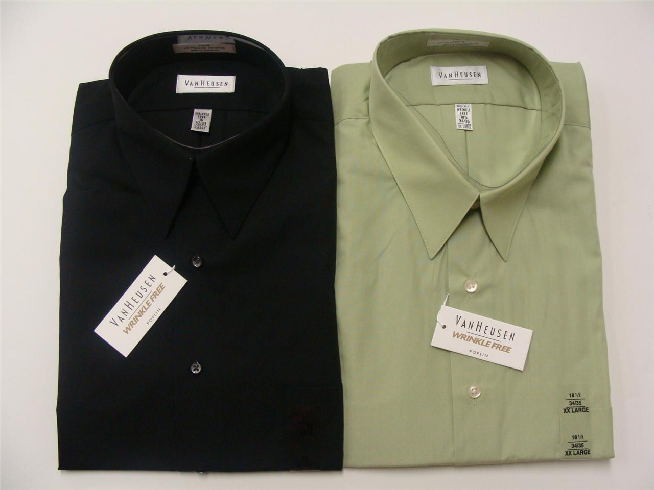 Van heusen mens 20f0062332 poplin wrinkle free reg fit for Van heusen men s regular fit pincord dress shirt