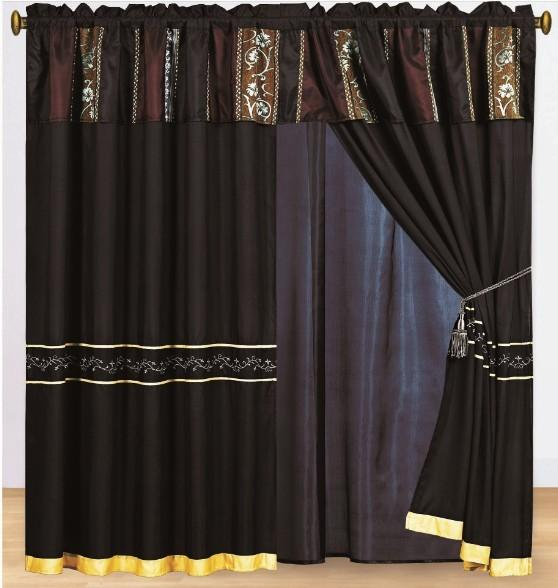 15pc Brussels Brown Chenille Embroidery Comforter Set Queen W Matching Curtain Ebay