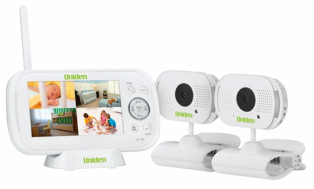 uniden baby monitor twin 2 video camera digital wireless bw3102 nursery lullaby ebay. Black Bedroom Furniture Sets. Home Design Ideas