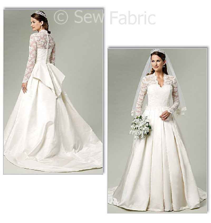 5731 butterick sewing pattern kate middleton royal for Butterick wedding dress patterns