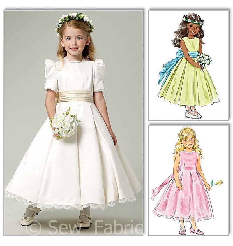 Butterick 5705 Sewing Pattern Girls Bridesmaid Princess Dress Flower Girl Gown