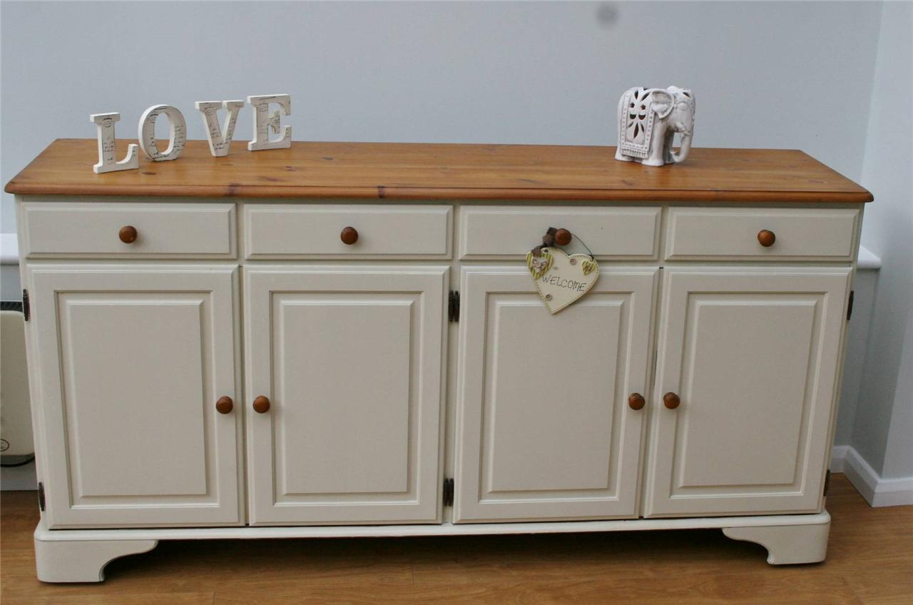 stunning large shabby chic sideboard ducal pine ebay. Black Bedroom Furniture Sets. Home Design Ideas