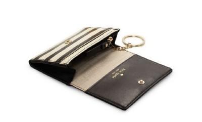 Kate Spade Cooper Square Darla Mini French Wallet Black Cream