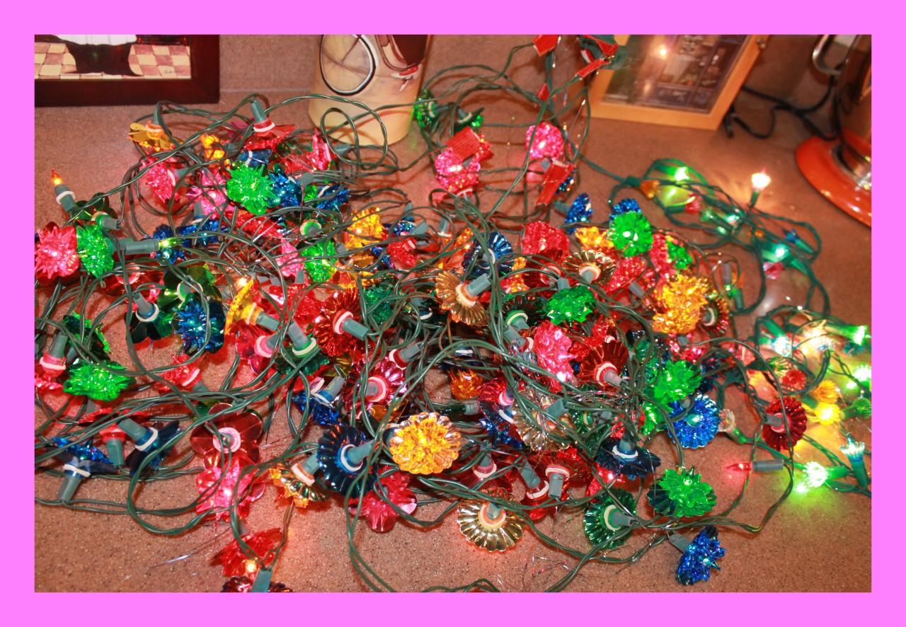 635 strand vintage christmas multicolored flower