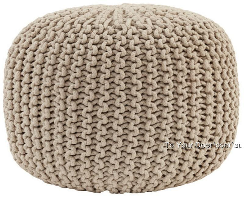 Knit Pouf Ottoman Pattern : Knitted GUMBALL Ottoman Pouffe Foot Stool Pouf Footstool Round Poof Poufee ...